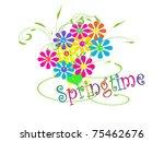 bouquet of flowers   springtime | Shutterstock . vector #75462676