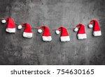 traditional christmas santa... | Shutterstock . vector #754630165