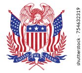 united we stand american logo... | Shutterstock .eps vector #754632319