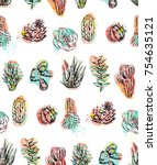hand drawn vector abstract... | Shutterstock .eps vector #754635121