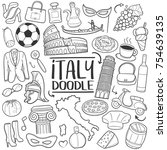 italy italian traditional... | Shutterstock .eps vector #754639135
