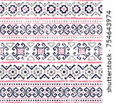 seamless striped pattern.... | Shutterstock .eps vector #754643974