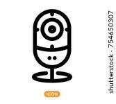 web camera icon. ip camera... | Shutterstock .eps vector #754650307