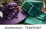 fancy hats for derby day | Shutterstock . vector #754652467