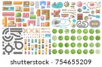set of landscape elements. city.... | Shutterstock .eps vector #754655209