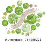 vector illustration. landscape... | Shutterstock .eps vector #754655221