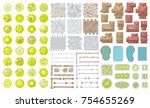 vector set. architectural... | Shutterstock .eps vector #754655269