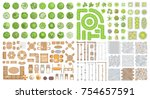 vector set for landscape design.... | Shutterstock .eps vector #754657591