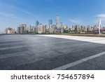 panoramic skyline and buildings ... | Shutterstock . vector #754657894