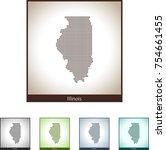 map of illinois | Shutterstock .eps vector #754661455