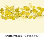 Autumn leaves background for fall or thanksgiving design. Jpeg version also available - stock vector