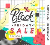 black friday sale banner.... | Shutterstock .eps vector #754666891