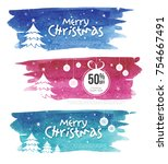 christmas offer banner design... | Shutterstock .eps vector #754667491