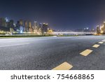 panoramic skyline and buildings ... | Shutterstock . vector #754668865