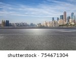 panoramic skyline and buildings ... | Shutterstock . vector #754671304