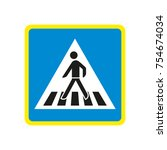 germany pedestrian crossing sign | Shutterstock .eps vector #754674034