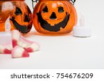halloween party objects... | Shutterstock . vector #754676209