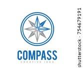 compass logo vector | Shutterstock .eps vector #754679191