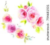 wildflower eustoma flower in a... | Shutterstock . vector #754681531