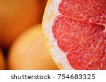 pile of fresh grapefruits on...   Shutterstock . vector #754683325