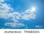 Beautiful Blue Sky  White...