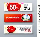banner template design.... | Shutterstock .eps vector #754686505