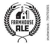 farmhouse ale badge or label.... | Shutterstock .eps vector #754701001