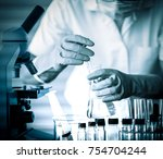 scientist with equipment and...   Shutterstock . vector #754704244