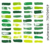 brush strokes set backgrounds.... | Shutterstock .eps vector #754704919