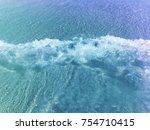 blue wave sea | Shutterstock . vector #754710415