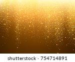 gold glitter stardust...   Shutterstock .eps vector #754714891