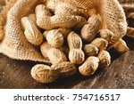 composition of peanuts serving... | Shutterstock . vector #754716517
