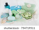 skincare and body care beauty... | Shutterstock . vector #754719511