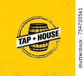 tap house craft beer brewery...   Shutterstock .eps vector #754720561