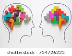 the concept of rational and... | Shutterstock . vector #754726225