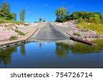 giant boat ramp landscape at...