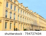 facade of georgian style... | Shutterstock . vector #754727434