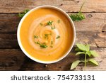 bowl of soup | Shutterstock . vector #754733131