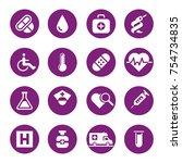 health and medicine icon set | Shutterstock .eps vector #754734835