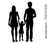 vector silhouette of a family ...   Shutterstock .eps vector #754737325