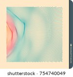 array with dynamic particles.... | Shutterstock .eps vector #754740049