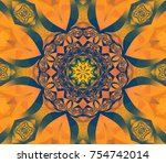 abstract decorative gold... | Shutterstock . vector #754742014