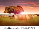 campground in the mountains of... | Shutterstock . vector #754748779