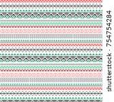 abstract geometric art print.... | Shutterstock .eps vector #754754284