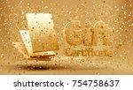 gift voucher  certificate  new...   Shutterstock . vector #754758637
