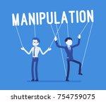 string manipulation puppet... | Shutterstock .eps vector #754759075
