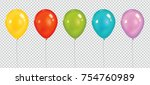 set of realistic vector... | Shutterstock .eps vector #754760989