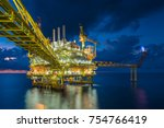 offshore oil and gas central... | Shutterstock . vector #754766419