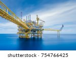 offshore oil and gas central... | Shutterstock . vector #754766425
