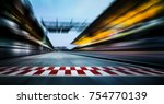 motion blurred racetrack with... | Shutterstock . vector #754770139